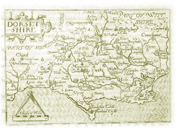 Old Map of Dorsetshire