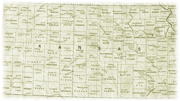 Old Map of Kansas