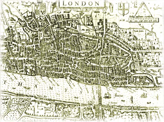 Old Map of the City of London