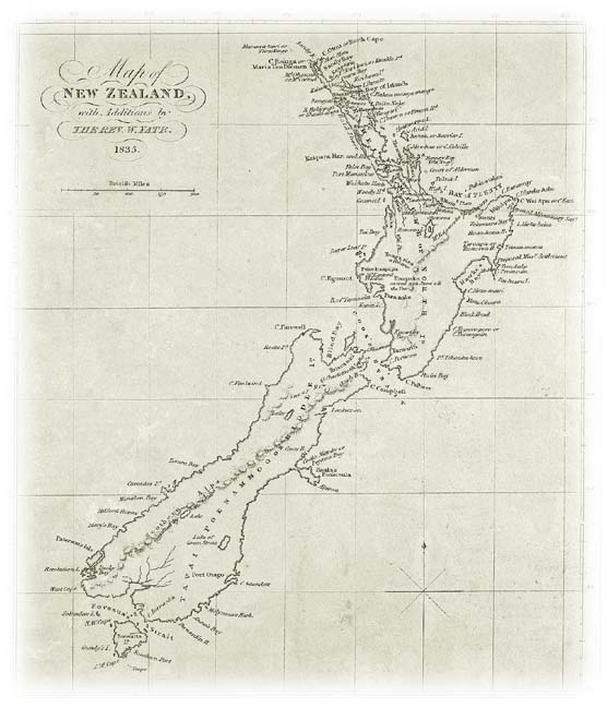Old Map of New Zealand
