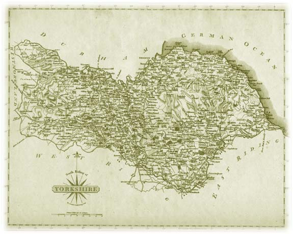 Old Map of the North Riding of Yorkshire