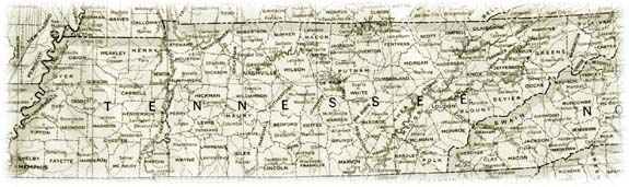 Old Map of Tennessee
